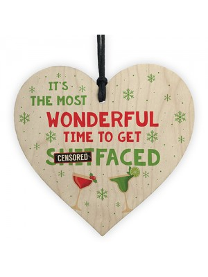Funny Christmas Gift Alcohol Gift Wooden Heart Christmas Alcohol