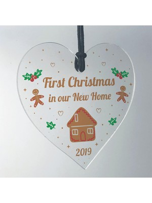First Christmas In Our New Home Hanging Heart 1st Christmas Gift