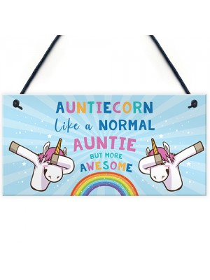 Novelty Unicorn Gift For Auntie Birthday Xmas Gifts Auntie Sign