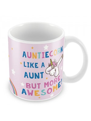 Auntie Gift AUNTIECORN Mug Unicorn Gift For Auntie Birthday Gift