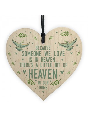 Memorial Plaque Hanging Wood Heart In Memory Plaque For Mum Dad