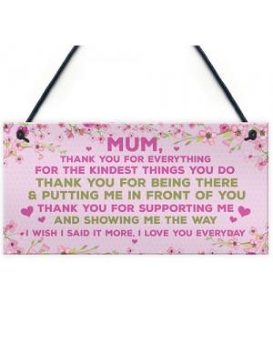 Mum Gift From Daughter Son Plaque Mum Birthday Christmas Gift