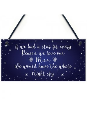 Mum Gift Hanging Plaque Cute Gift For Mum From Daughter Son Gift
