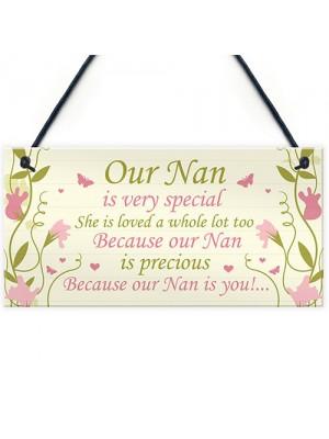 Special Nan Gift From Grandchildren Plaque Gift For Mum Nan