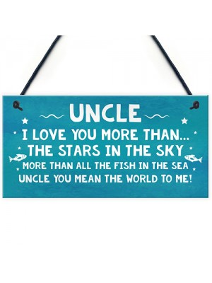 Birthday Gift For Uncle Christmas Gift Hanging Plaque Uncle Gift