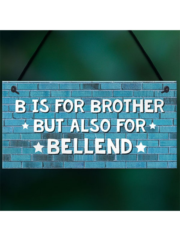 Funny Gift For Brother Hanging Plaque Rude Birthday Christmas