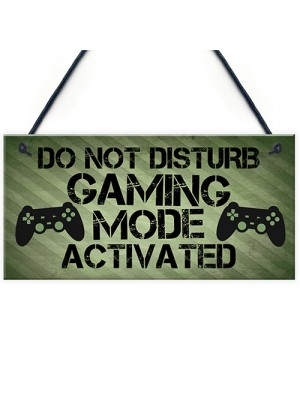 Gaming Sign Do Not Disturb Plaque Gamer Gift Boys Bedroom Decor