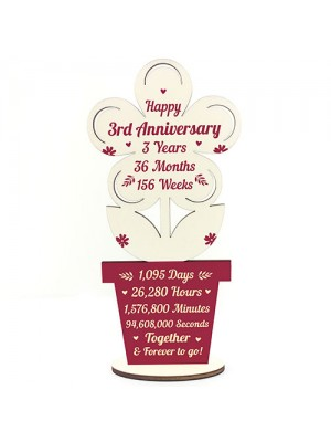 3rd Wedding Anniversary Gift For Husband Wife Gift For Him Her