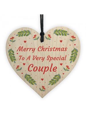 Handmade Christmas Gift For Friend Wooden Heart Couple Gift