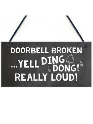 Handmade Door Sign Hanging Plaque Novelty Home Sign Gift