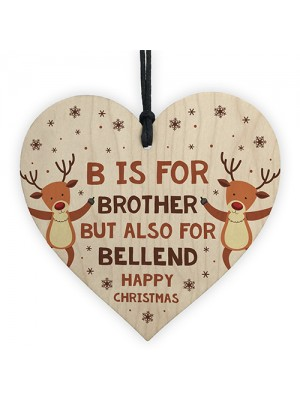 Funny Rude Christmas Gifts For Brother Novelty Wood Heart Gift