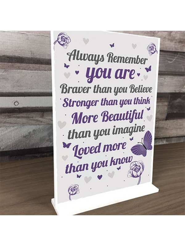 Gift For Best Friend Braver Stronger Beautiful Motivational Gift