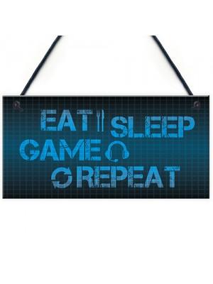 Retro Gaming Sign Boy Bedroom Decor Birthday Xmas Gift For Gamer