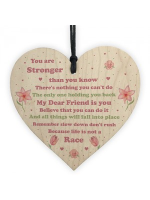 You Are Stronger Inspirational Gift Motivational Sign Wood Heart