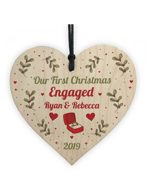 1st Christmas Engaged Personalised Engagement Gift Couple Gift