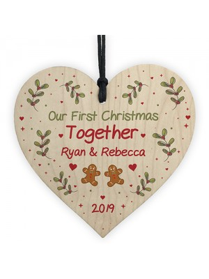 Handmade 1st Christmas Together Personalised Tree Decor Gift
