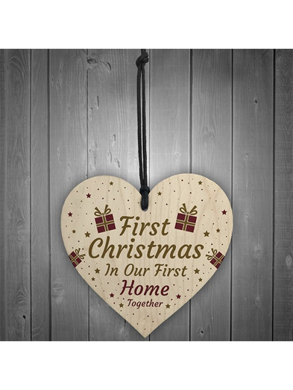 1st Home Together Personalised Christmas Bauble Tree Decoration