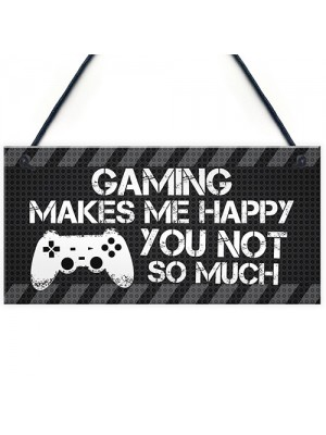 Novelty Gaming Sign Gift Funny Rude Christmas Gift For Brother