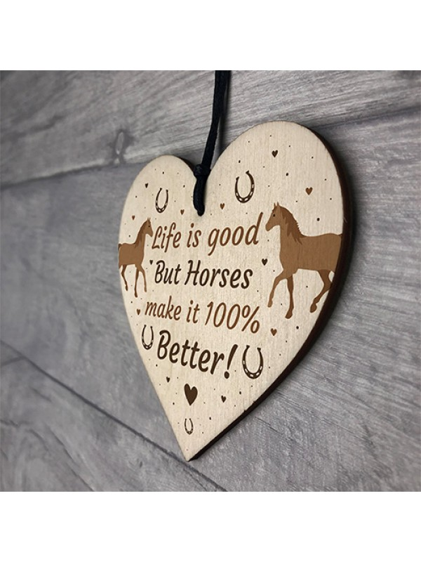 Funny Friendship Gift Horse Gifts For Women Heart Stable Sign