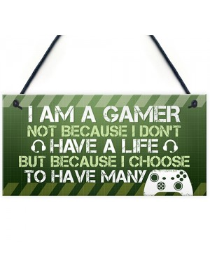 Gaming Sign Novelty Gamer Gift For Son Brother Boys Bedroom