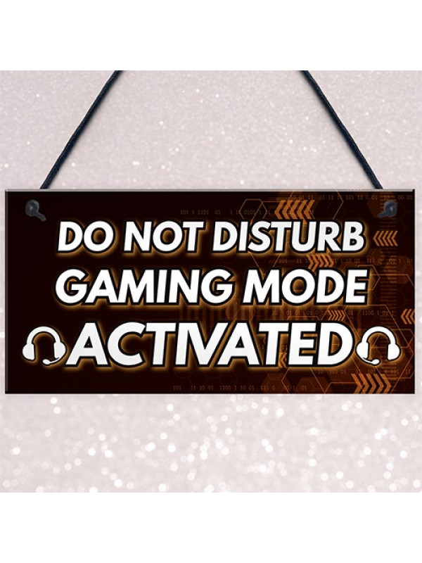 Gaming Christmas Gifts DO NOT DISTURB Novelty Gamer Decor