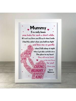 Newborn Baby Gift For Mummy Framed Print Mummy Birthday Xmas