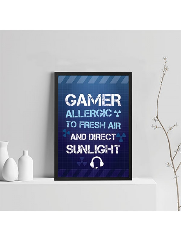 Funny Gamer Gift For Boys Bedroom Gaming Print Hanging Wall Sign