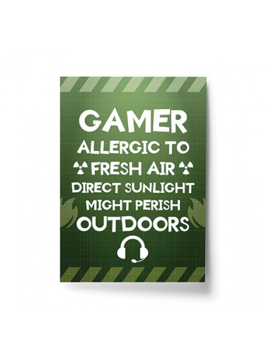 Funny Gamer Gift For Gaming Lover Boys Bedroom Wall Art Man Cave