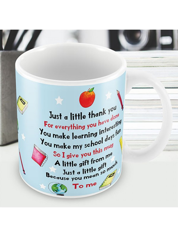 Teacher Teaching Assistant Thank You Gift From Child Mug