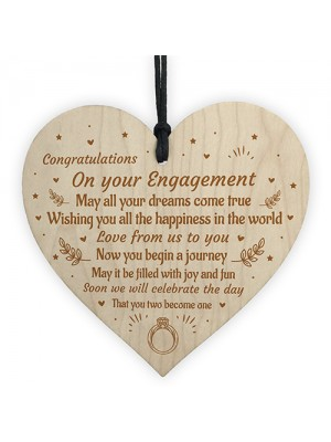 Handmade Congratulations Gift For Couple Heart Engagement Gift