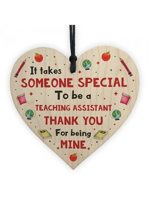 Handmade Thank You Teaching Assistant Gift Heart Leaving Gift