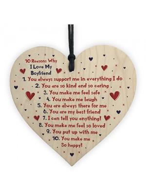 Handmade 10 Reasons Why I Love You Gift For Boyfriend Valentines