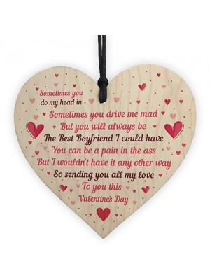 Handmade Valentine's Day Gift For Your Boyfriend Wood Heart Gift