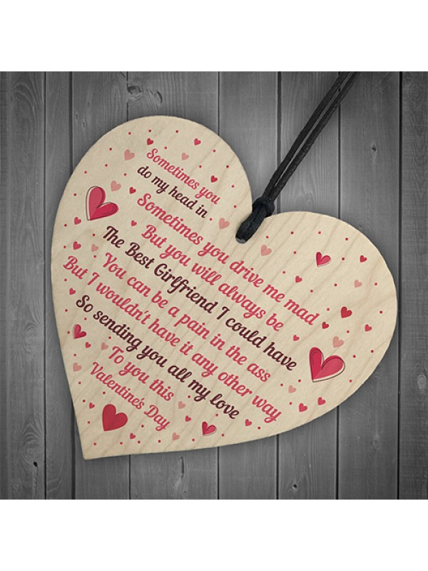 Handmade Valentine's Day Gift For Your Girlfriend Wood Heart
