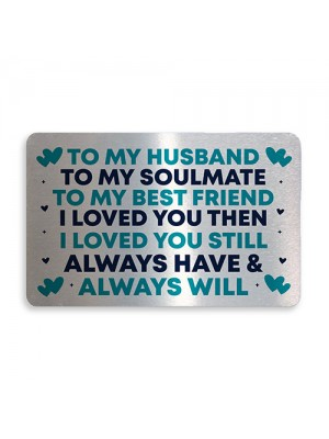 Novelty Metal Wallet Insert Card For Husband Valentines Day Gift