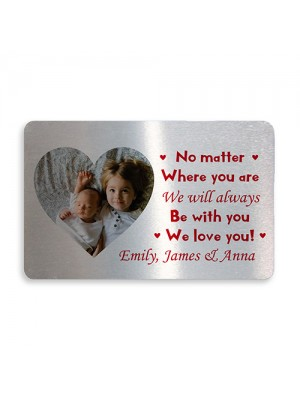 Special Mum Dad Gift Metal Wallet Insert Mothers Day Fathers Day