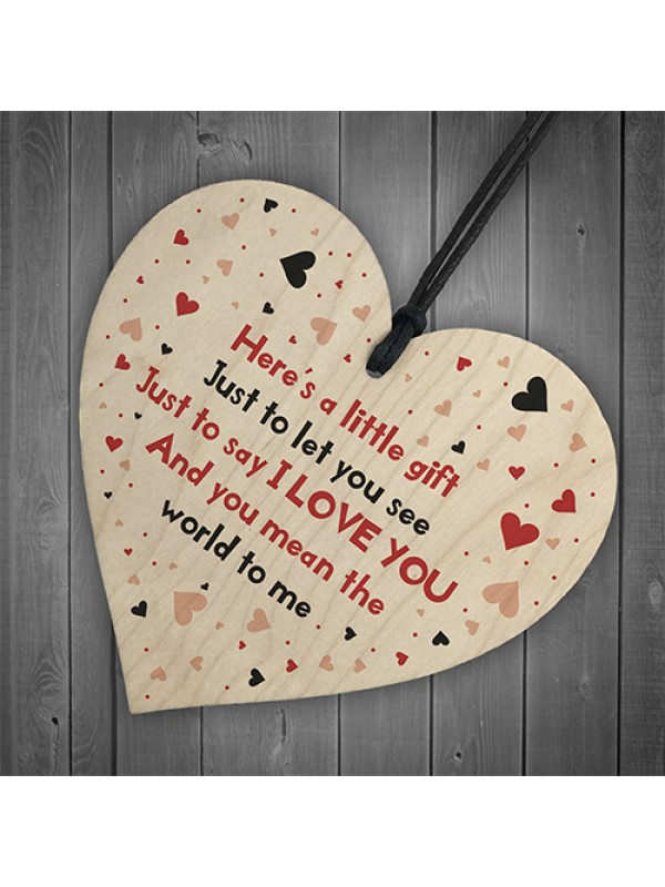 Cute Gift For Boyfriend Girlfriend Heart Anniversary Valentines