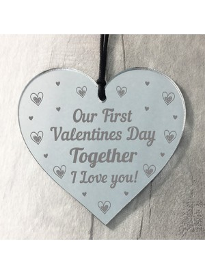 Our First Valentines Day Hanging Heart 1st Valentines Gift