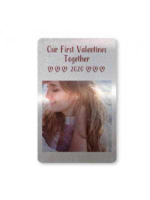 First Valentines Gift For Boyfriend Girlfriend Personalised Card