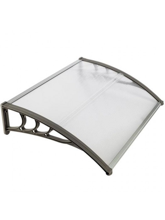 Door Canopy Awning Shelter Outdoor Porch Patio - Black