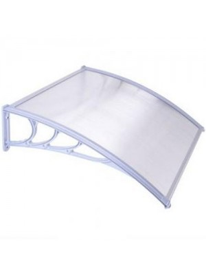 Door Canopy Awning Shelter Outdoor Porch Patio - White