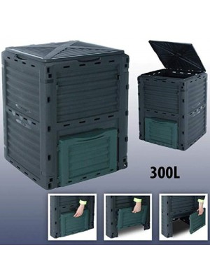 300 Litre Outdoor Garden Compost Bin Eco Friendly Composter