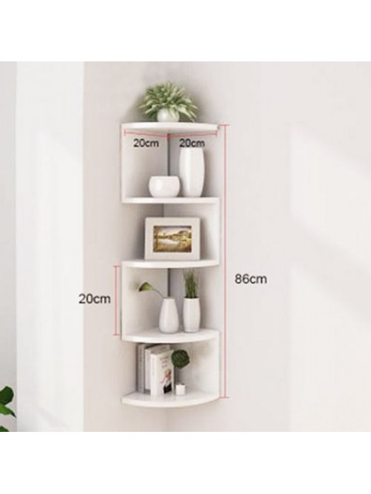 3D Wall Mounted Floating Corner Shelves 5 Tier Zig Zag Shelf - W