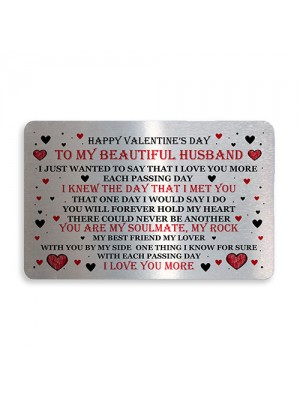 Valentines Day Gift For Husband Wallet Card Insert Husband Gifts