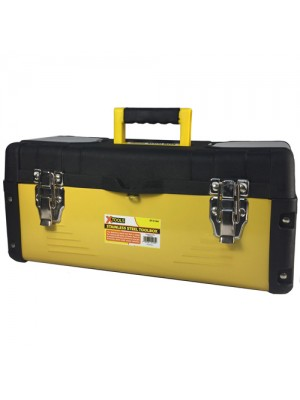 Stainless Steel DIY Tool Box Storage Chest Metal Toolbox Yellow