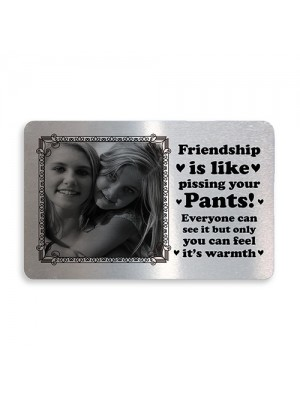 Personalised Friendship Gift Wallet Insert Gift For Best Friend