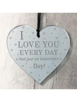 Valentines Day Gift Acryllic Heart Husband Wife Boyfriend Gift