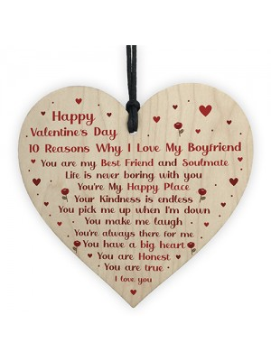 Novelty Valentines Gift For Boyfriend Wooden Heart Gift For Him