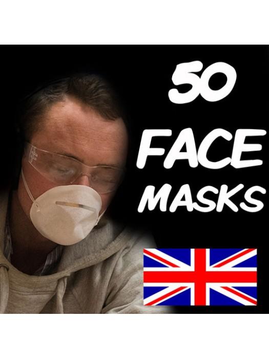 50 FLU VIRUS FACE MASK MEDICAL SURGICAL MASKS