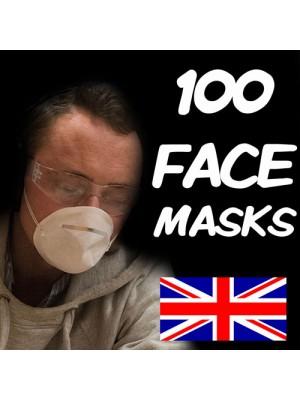 100 FLU VIRUS FACE MASK MEDICAL SURGICAL MASKS